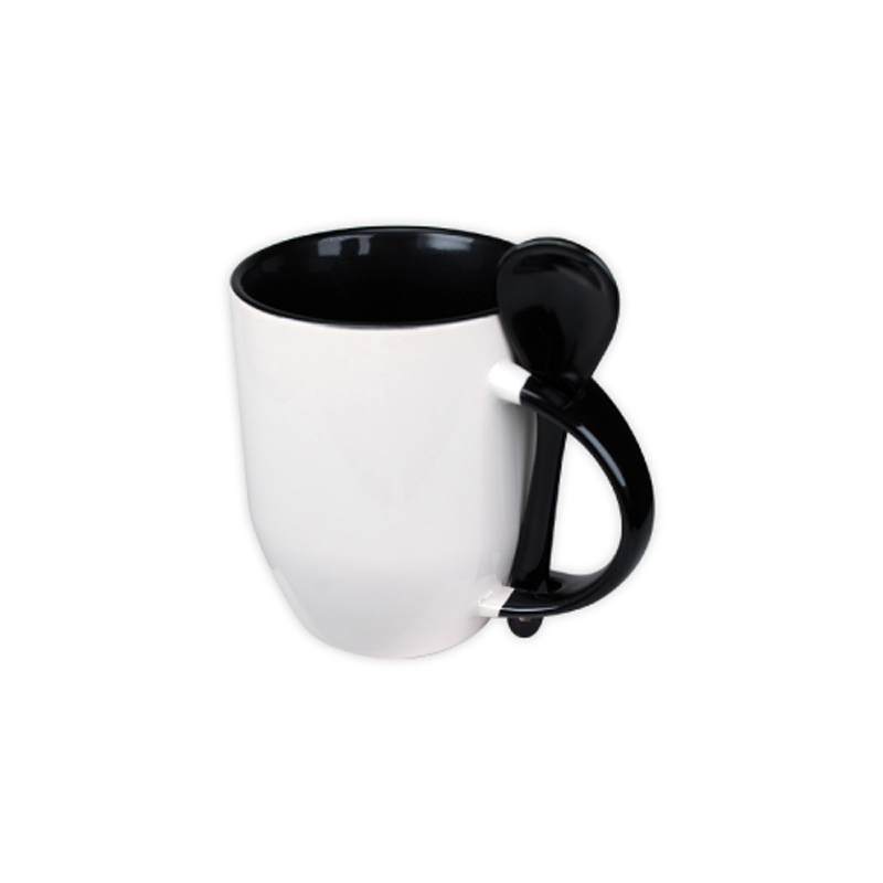 Mugs with spoon - Black