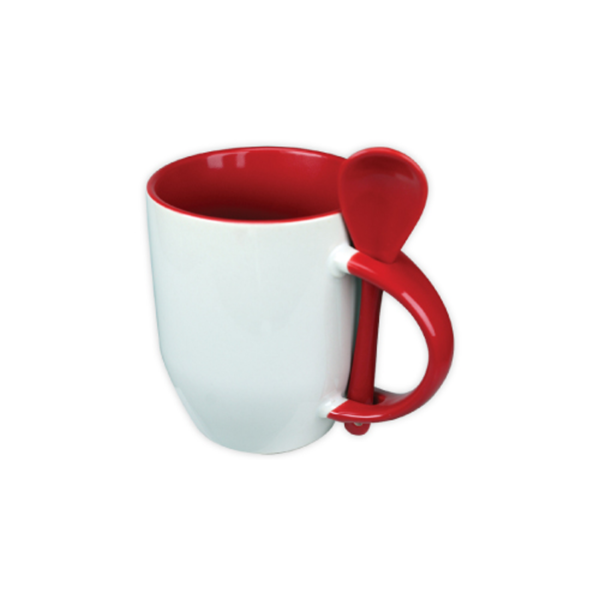 Mugs with spoon - Red