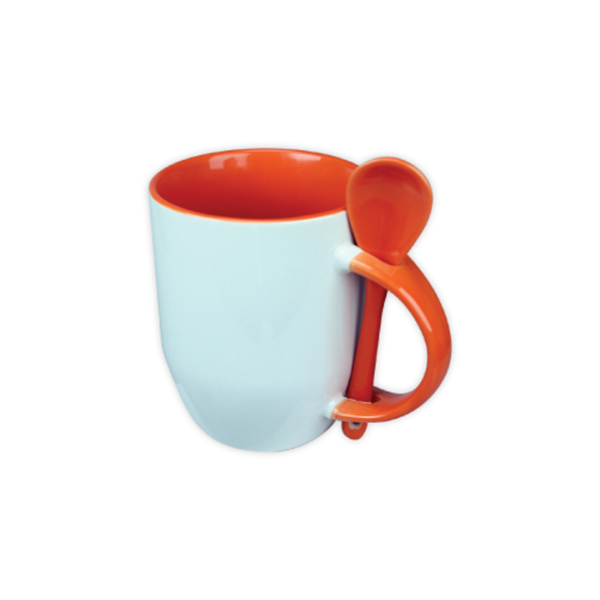 Mugs with spoon - Orange