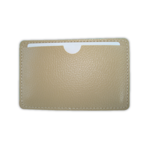 Leather Cover for Card Shaped USB Brown