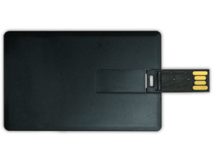Card Shaped USB Flash Drives 4GB - Black