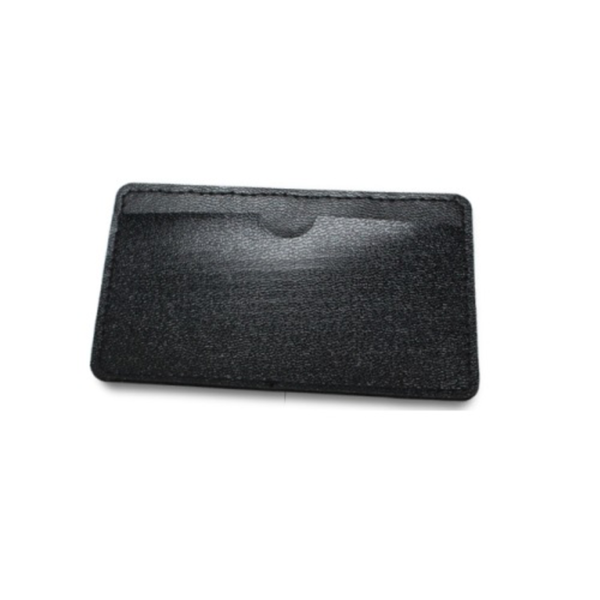 Leather Cover for Small Card Shaped USB Black