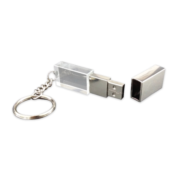 Promotional Crystal USB Flash Drive 8GB Silver