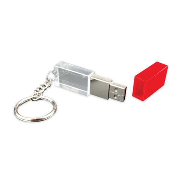 Promotional Crystal USB Flash Drive Red