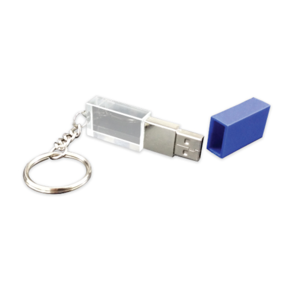 Promotional Crystal USB Flash Drive Blue