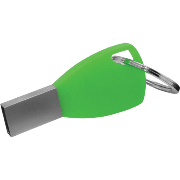 Silicone Keychain USB Flash Drives Green Color