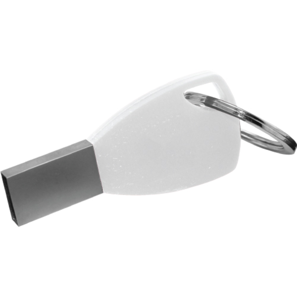 Silicone Keychain USB Flash Drives White Color