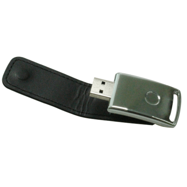 USB Flash Drives with Leather Cover 8GB - Black