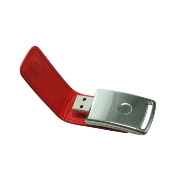 USB Flash Drives with Leather Cover 8GB - Red