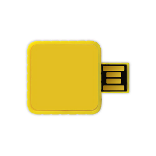 Twister USB Flash Drives - Yellow Color