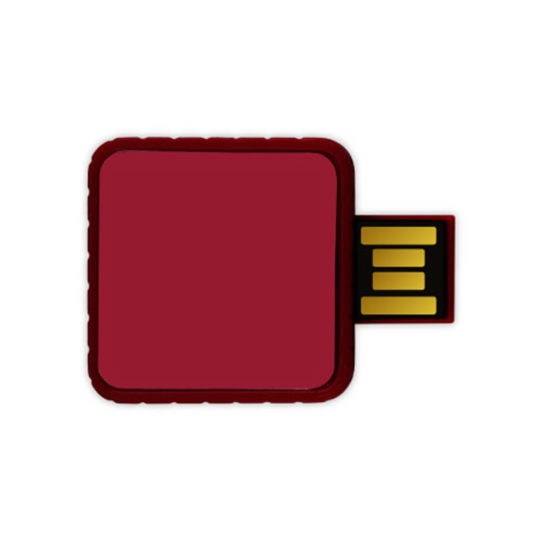 Twister USB Flash Drives - Maroon Color