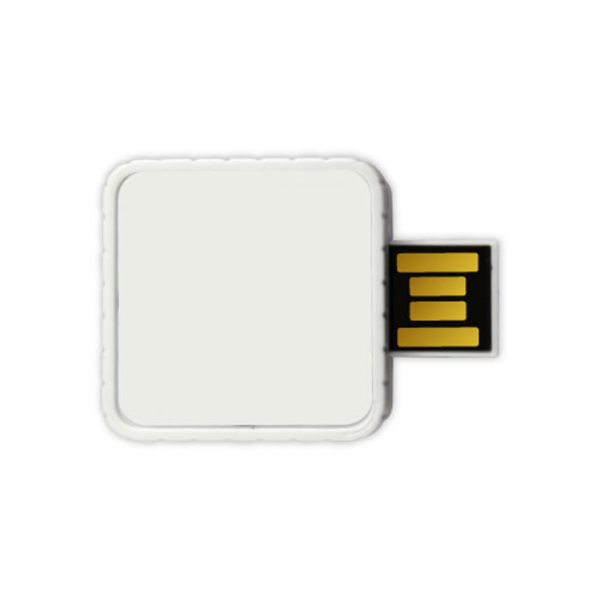 Twister USB Flash Drives - White Color