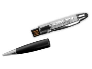 Crystal Pens USB Flash Drives - 4GB Black