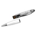 Crystal Pens USB Flash Drives – 8GB White