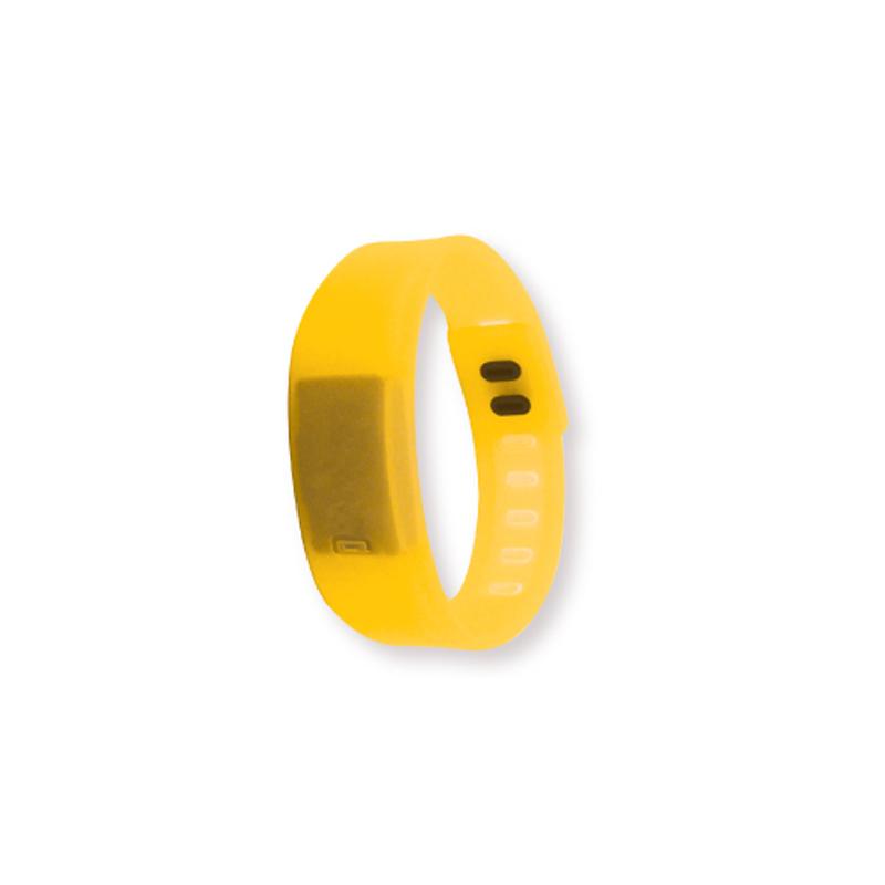 Wristband with Digital Watch Yellow