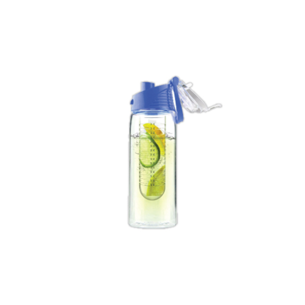 Water Bottle with Fruit Infuser - Blue