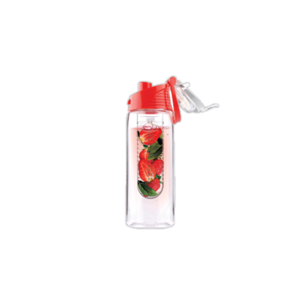 Water Bottle with Fruit Infuser - Red