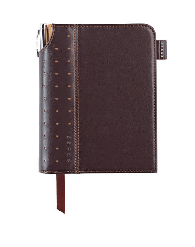 Small Brown Signature Journal with Pen