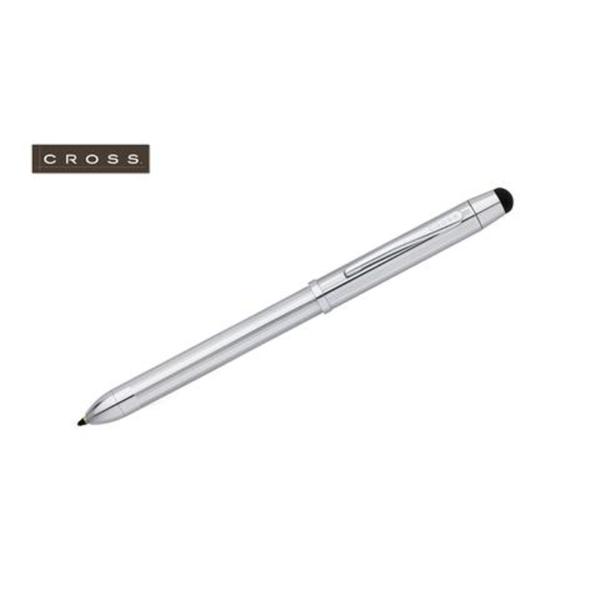 Tech3+ - Lustrous Chrome Multifunction Pen