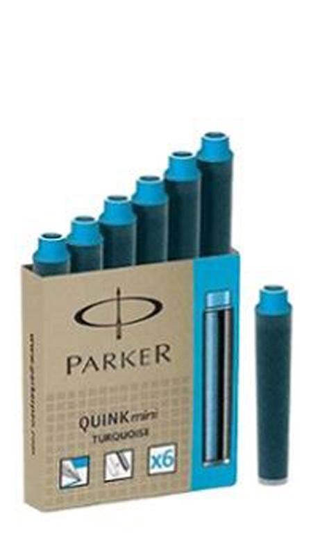 Parker Turquiose Ink Cartridge (Mini - Pack of 6)