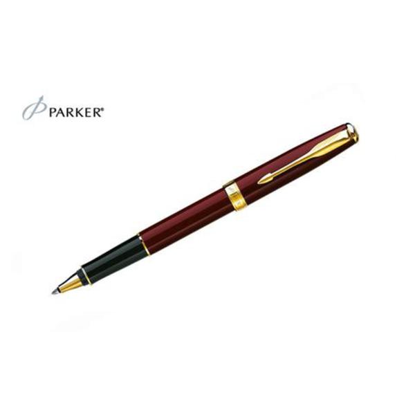 Sonnet - Laque Deep Red Gold Trim Rollerball Pen