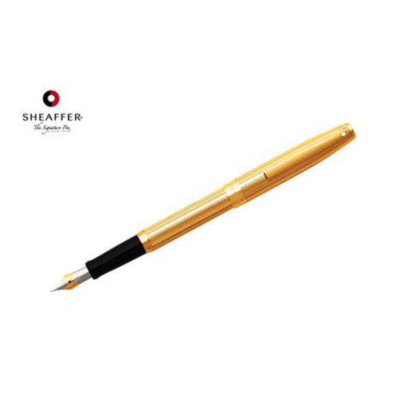 """Sagarisâ""""¢ - Fluted Gold Tone Cap and Barrel Fountain Pen"""