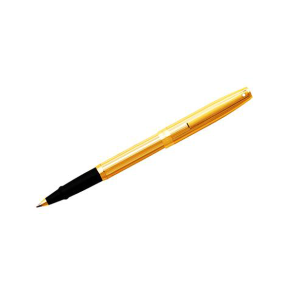 """Sagarisâ""""¢ - Fluted Gold Tone Cap and Barrel Rollerball Pen"""