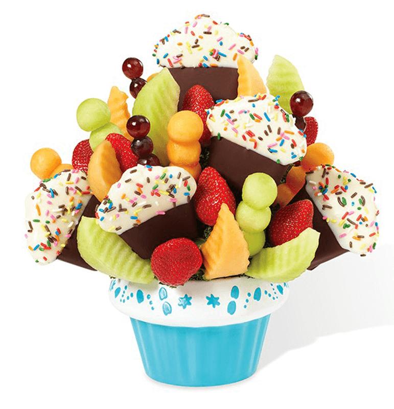 Confetti Fruit Cupcake