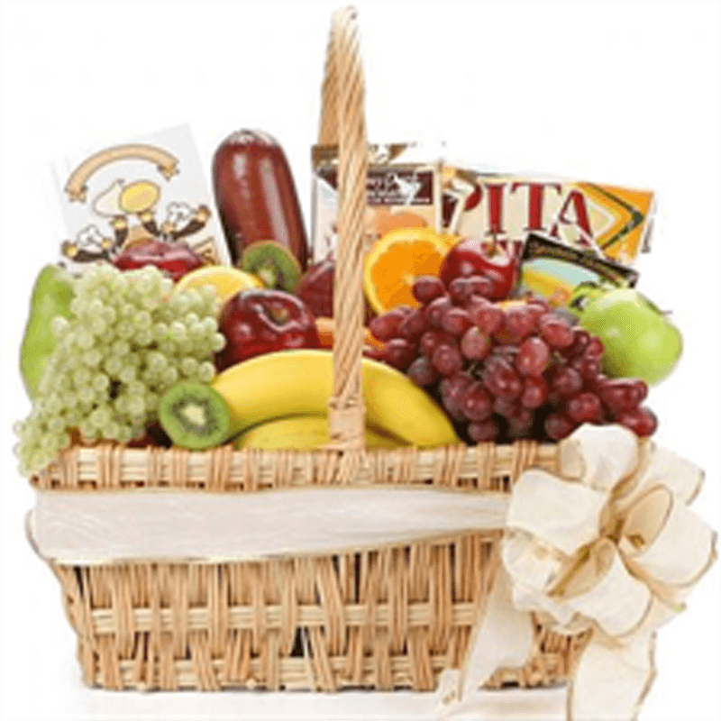 Gourmet Fruit, Cheese, Choco Hamper