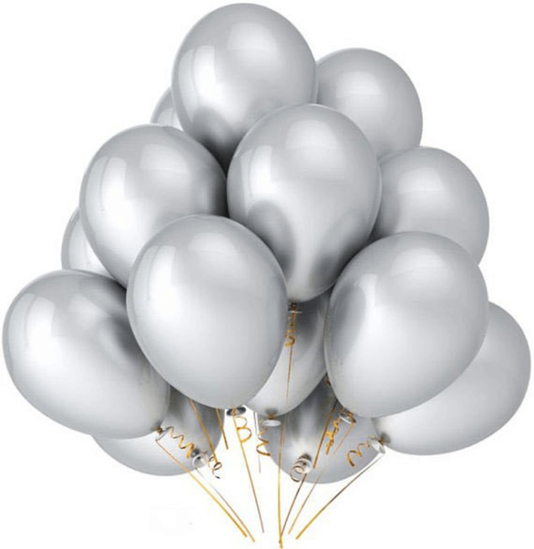 Chrome Silver Party Balloons