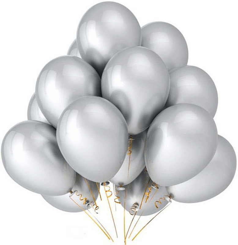 Chrome Silver Party Balloons
