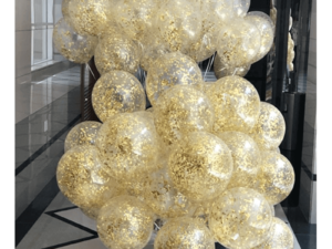 Gold Sprinkle Confetti Balloons