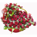 Deluxe Valentine Roses Basket