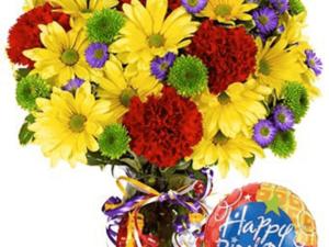 Sunshine Birthday Bloom & Balloon