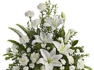 Peaceful White Lilies Basket