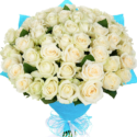 Divine White Roses Bouquet