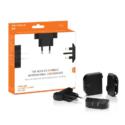 MU WORLDWIDE TRAVELLER DUO – DUAL USB PORT CHARGER 2 X 1.2 AMP – BLACK