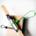 BLUELOUNGE Pixi Multi-Purpose Ties Medium Green & Black