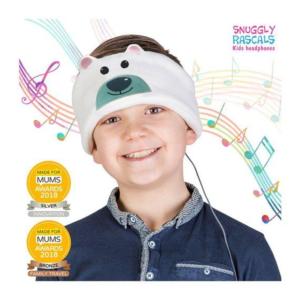 SNUGGLY RASCALS Ultra-Comfortable & Size Adjustable Headphones for Kids POLAR BEAR Christmas Edition