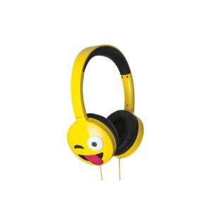 JAM AUDIO Jamoji Just Kidding On-Ear Headphones Emoji Design