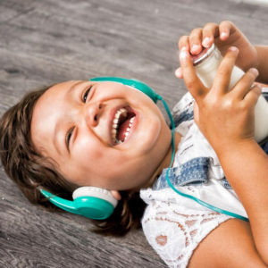 BUDDYPHONES Explore Headphones with Mic Green