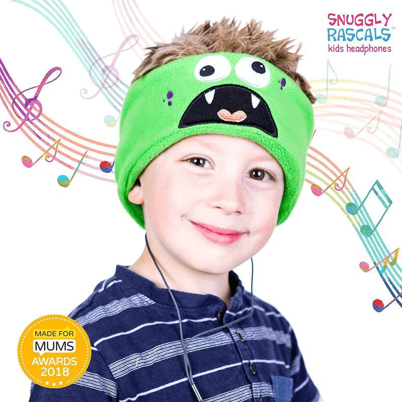 SNUGGLY RASCALS Ultra-Comfortable & Size Adjustable Headphones for Kids MONSTER