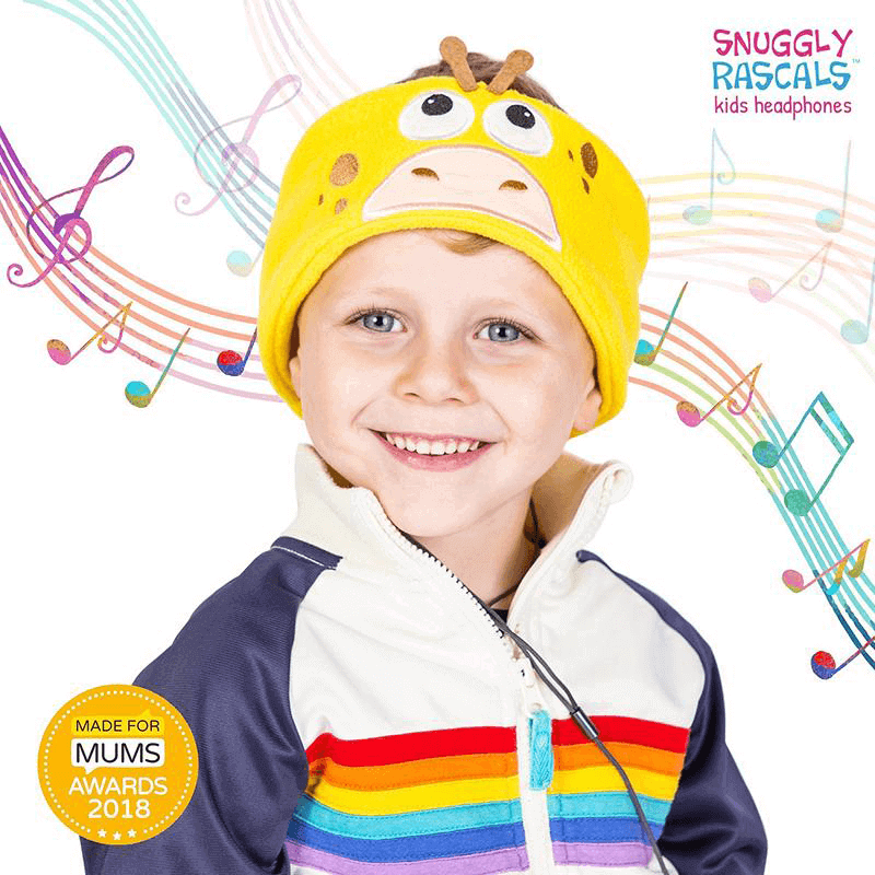 SNUGGLY RASCALS Ultra-Comfortable & Size Adjustable Headphones for Kids GIRAFFE