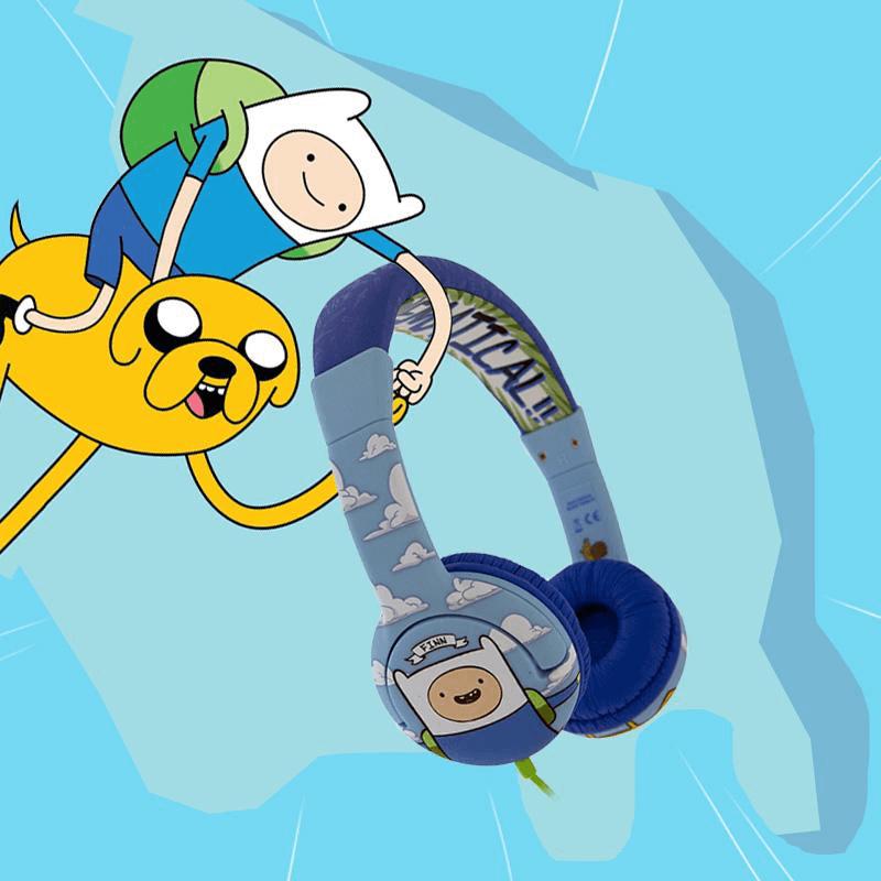 Adventurer Time Finn and Jake On Ear Headphones