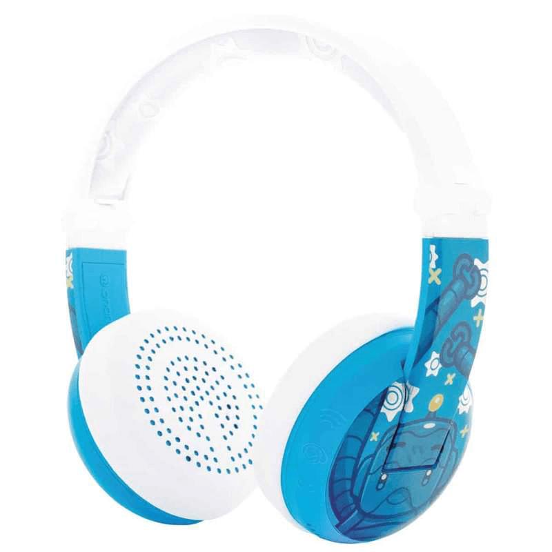 BUDDYPHONES Wave Bluetooth Headphones Waterproof Robot - Blue