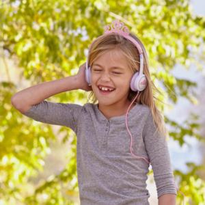 IFROGZ Little Rockers Costume Headphones Pink Tiara