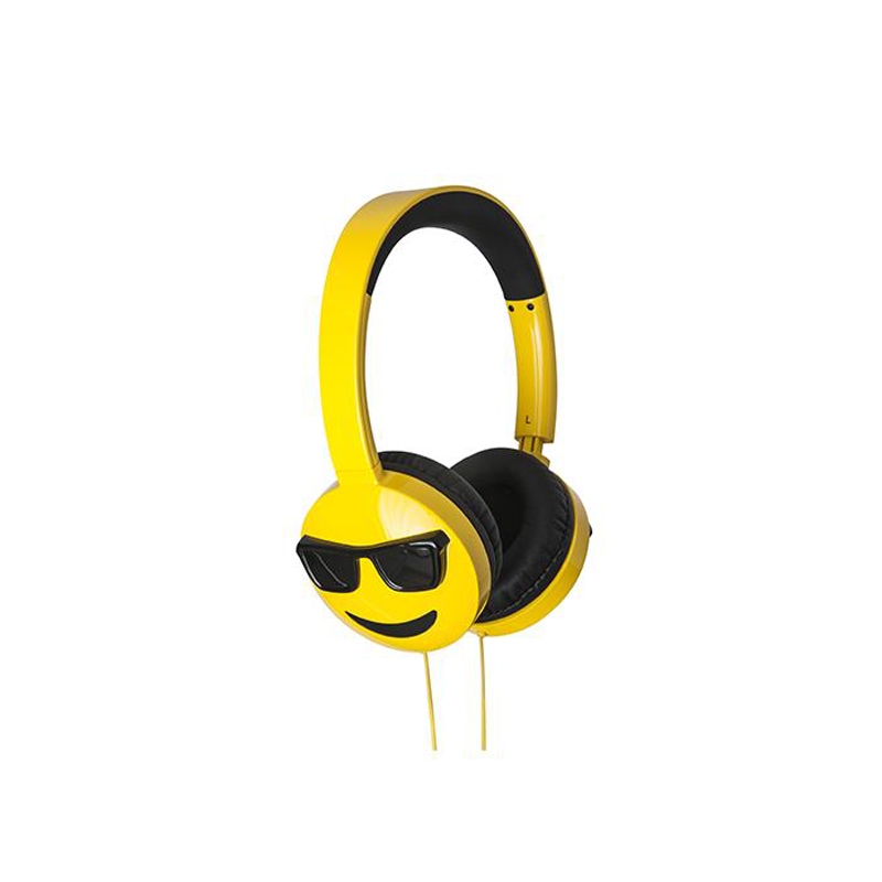 JAM AUDIO Jamoji Too Cool On-Ear Headphones Emoji Design