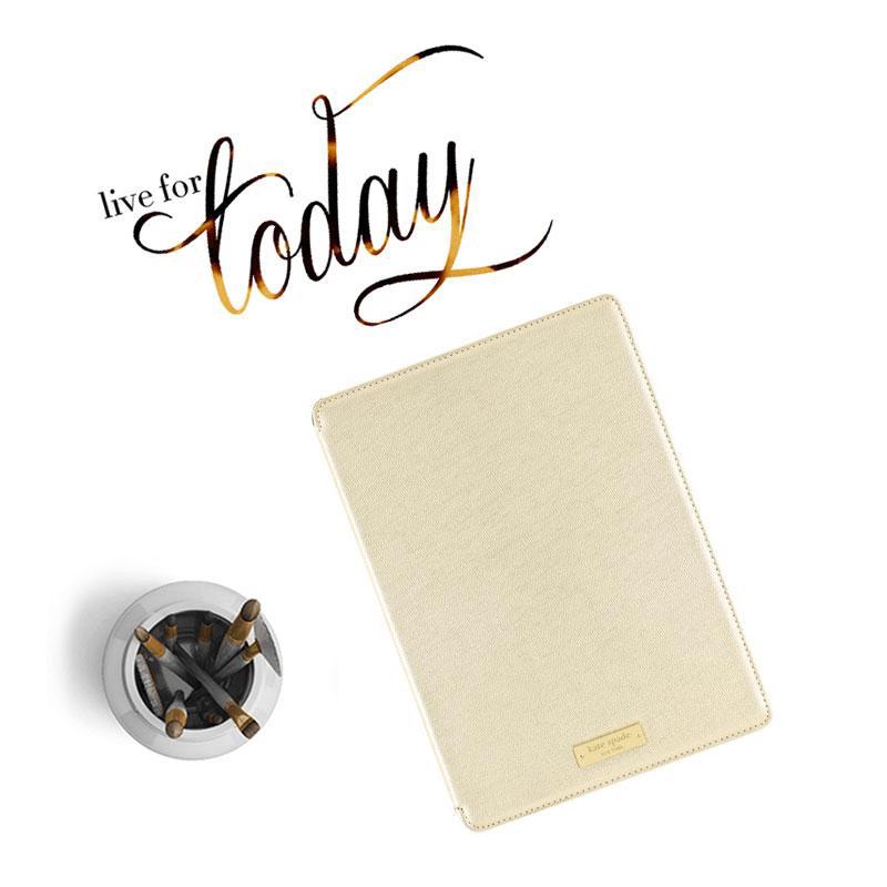 KATE SPADE NEW YORK Folio Hardcase for iPad Air 2 Metallic Gold