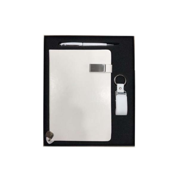 Notebook + Pen + Keychain
