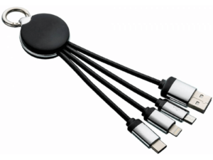 Light Up Round Key Cable With Logo
